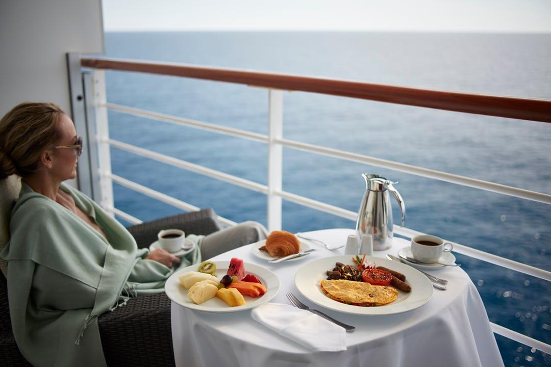 Balcony aboard Oceania
