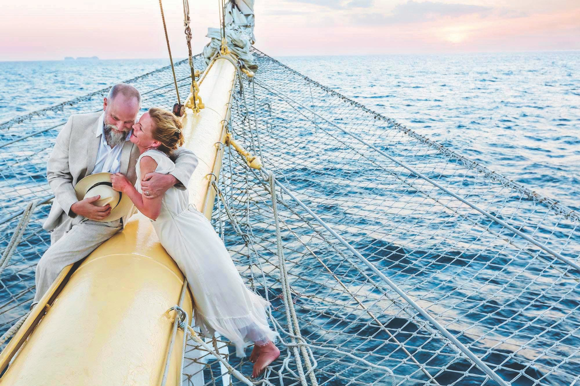 Star Clippers couples romance