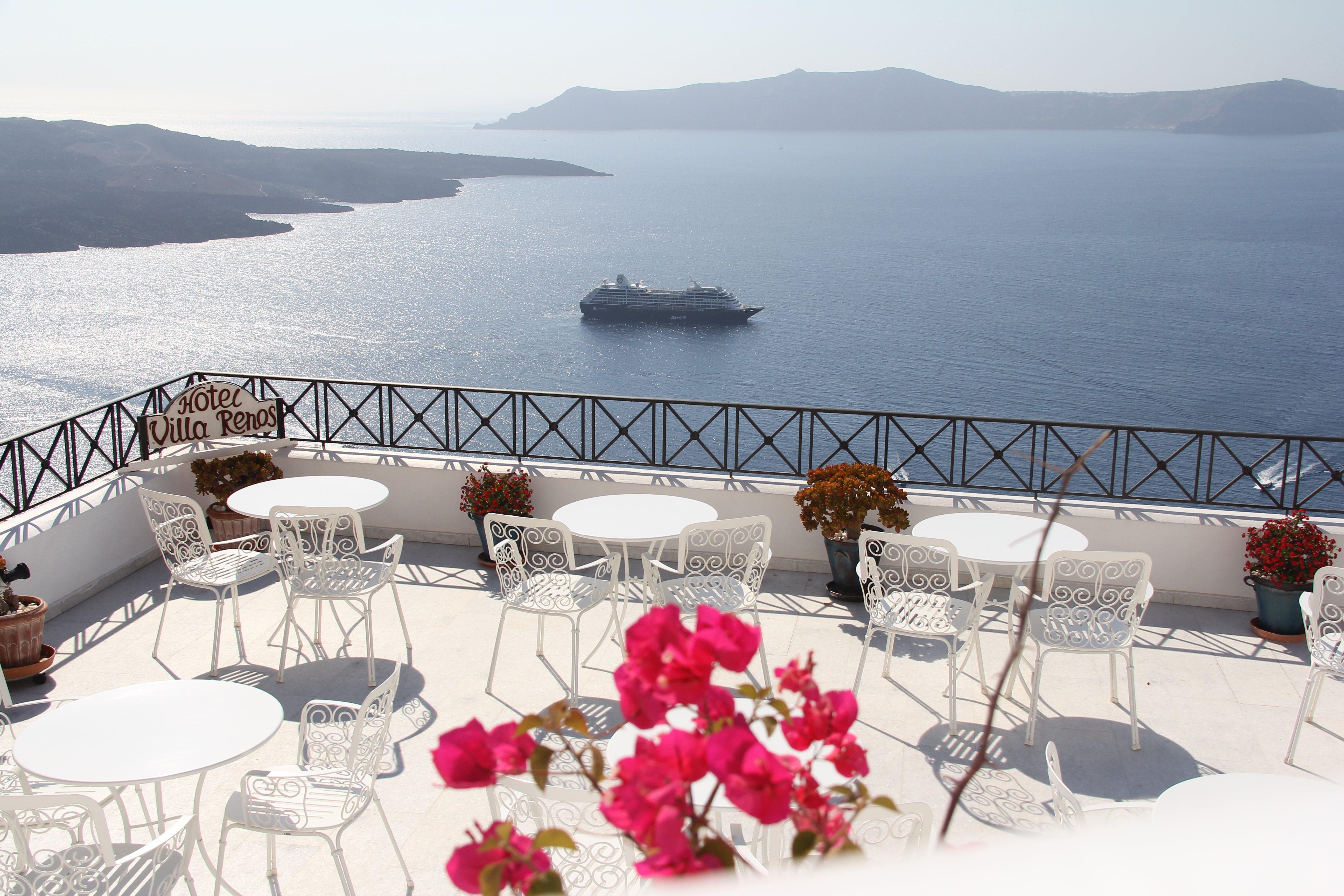 Azamara ship in Santorini, Greece