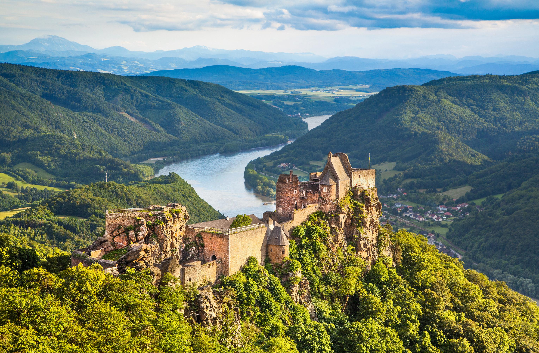 Castles dot the Danube river