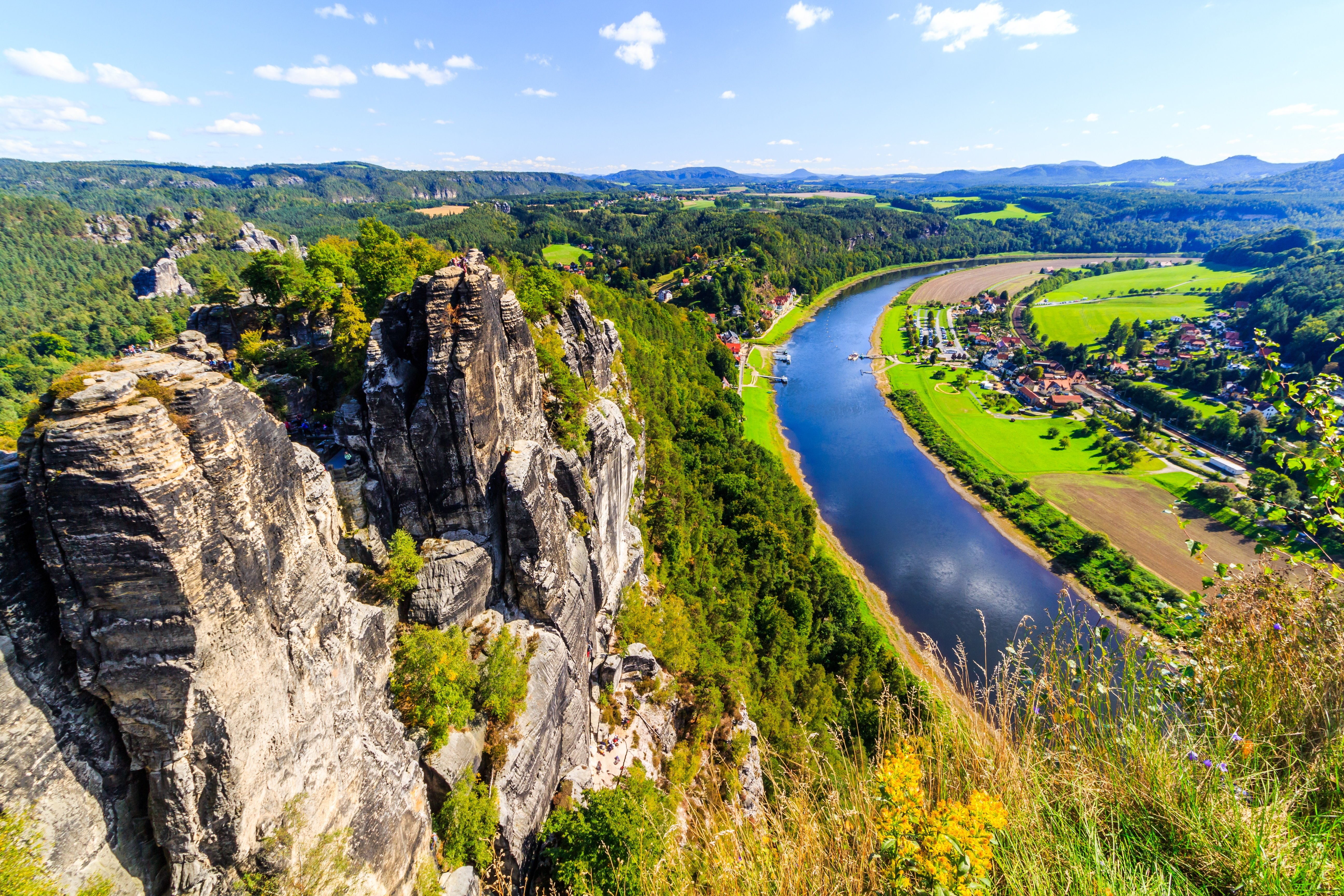 Elbe River in Germany