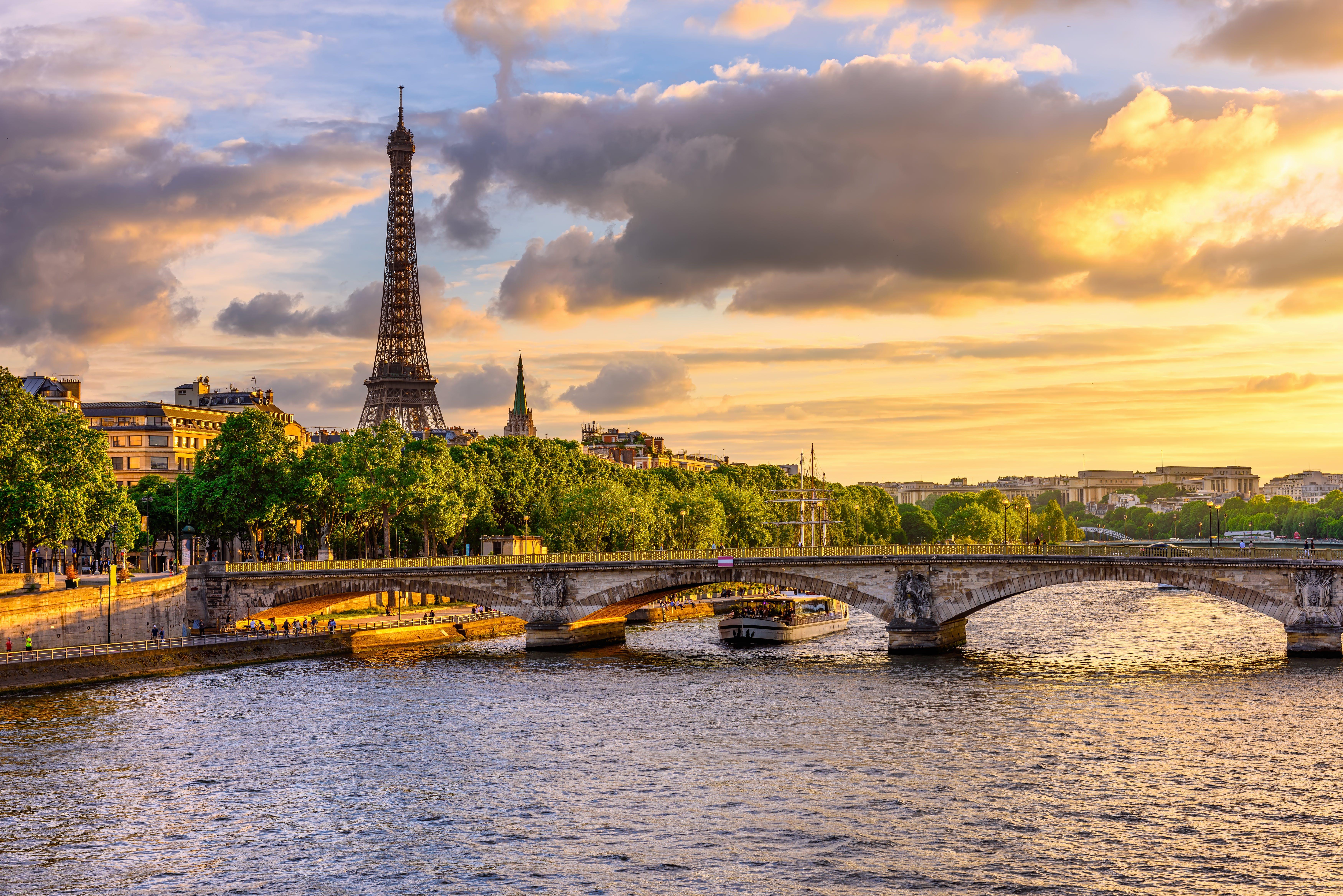 Seine River cuts through Paris, France