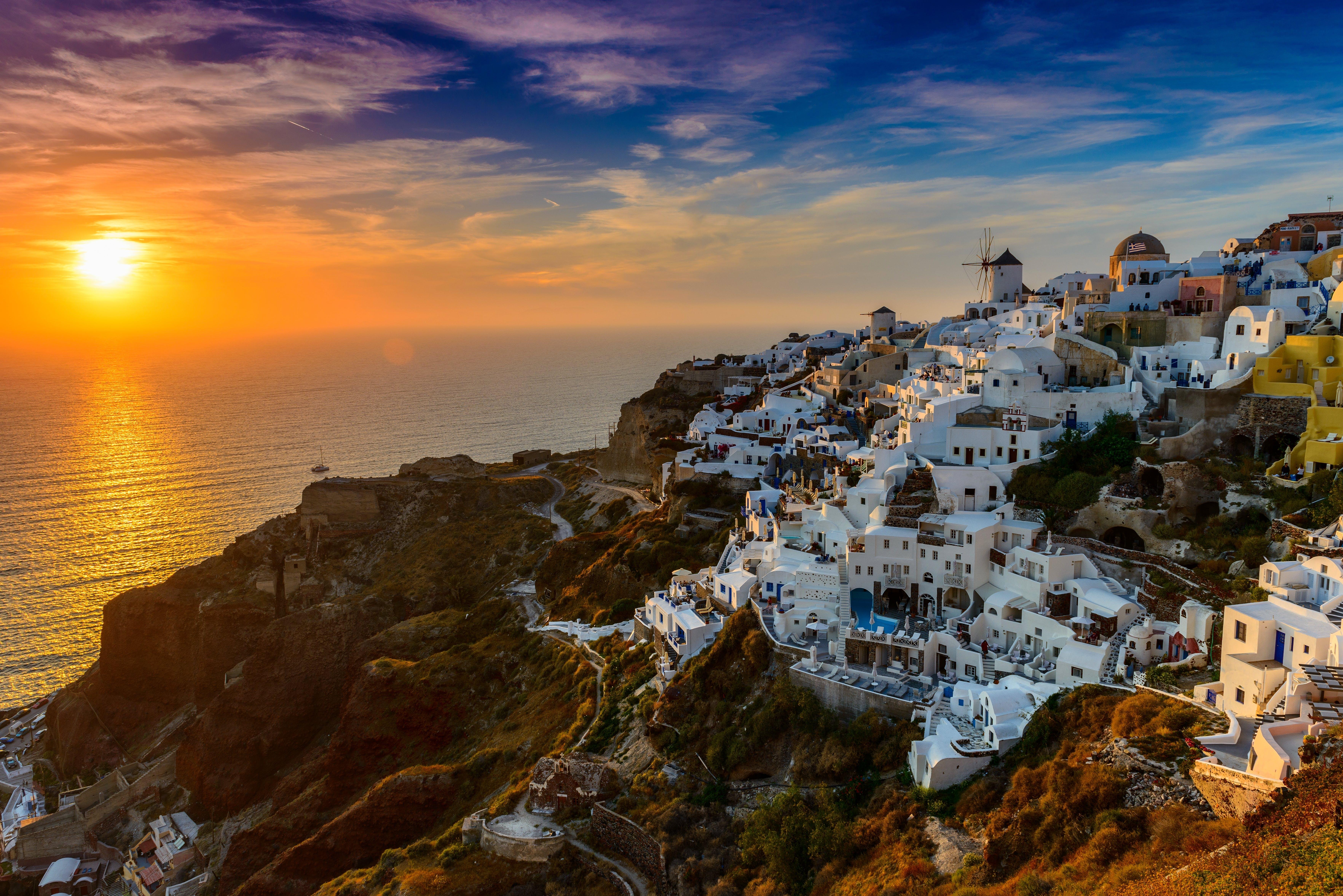 Mykonos Greece at Sunset
