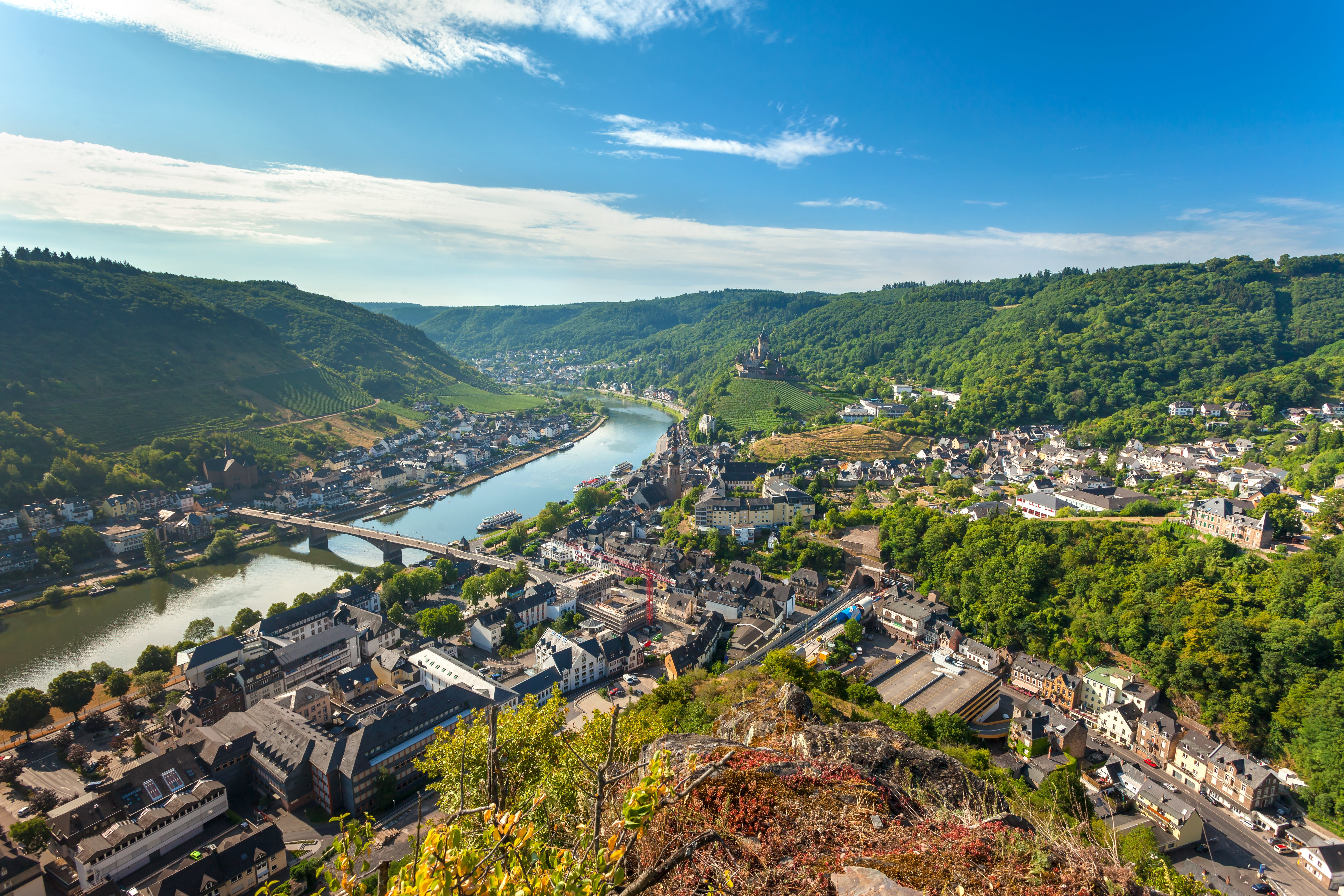 Moselle River flowing through France