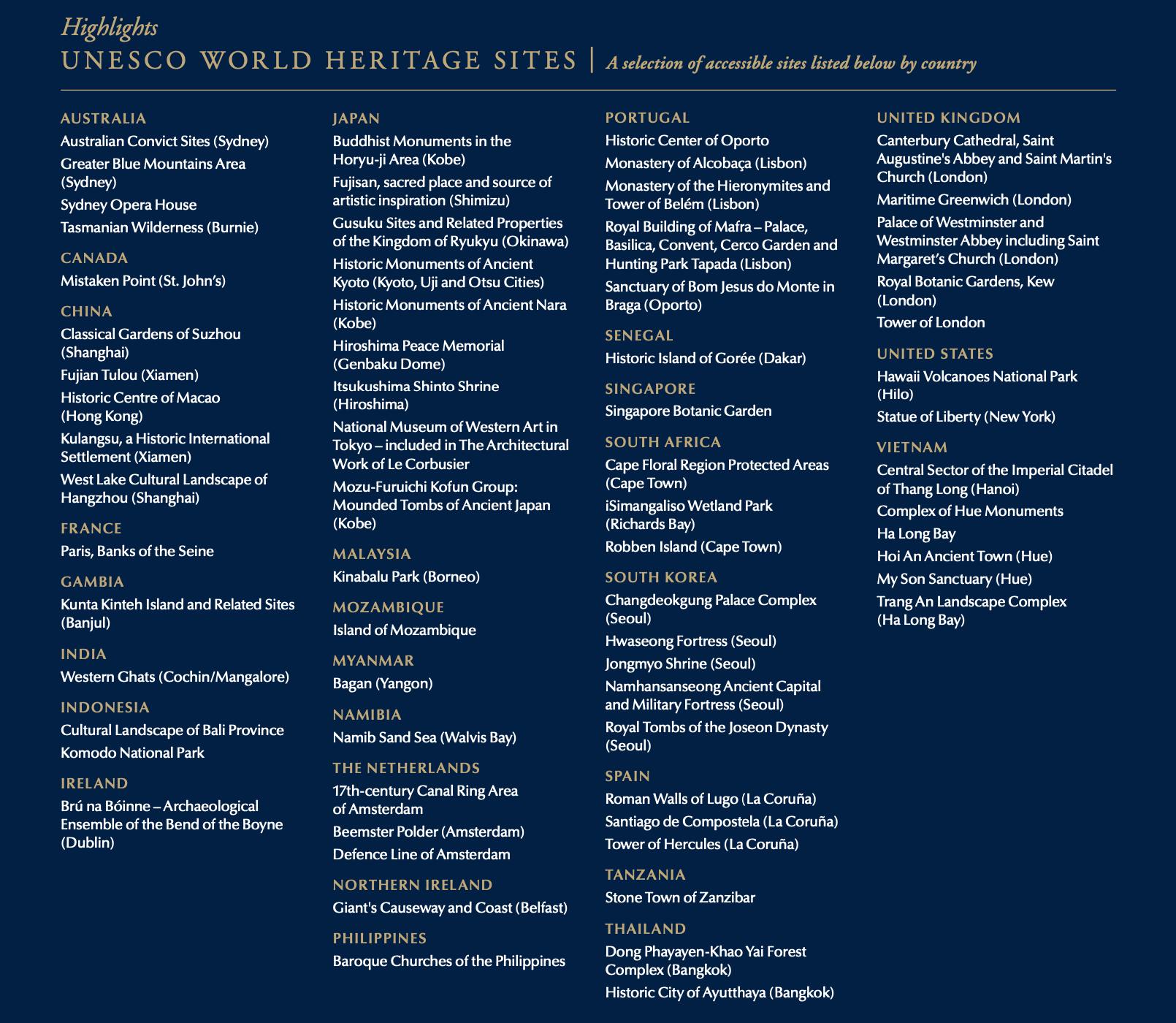 2022 World Cruise UNESCO World Heritage Sites