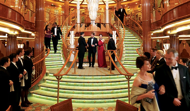 The elegant main areas on Cunard ships harken back to cruising's storied history.