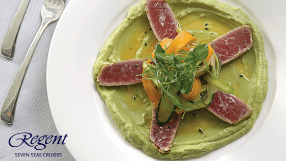 Regent's Tuna & Avocado Salad is a fresh, delicious favorite aboard several ships.