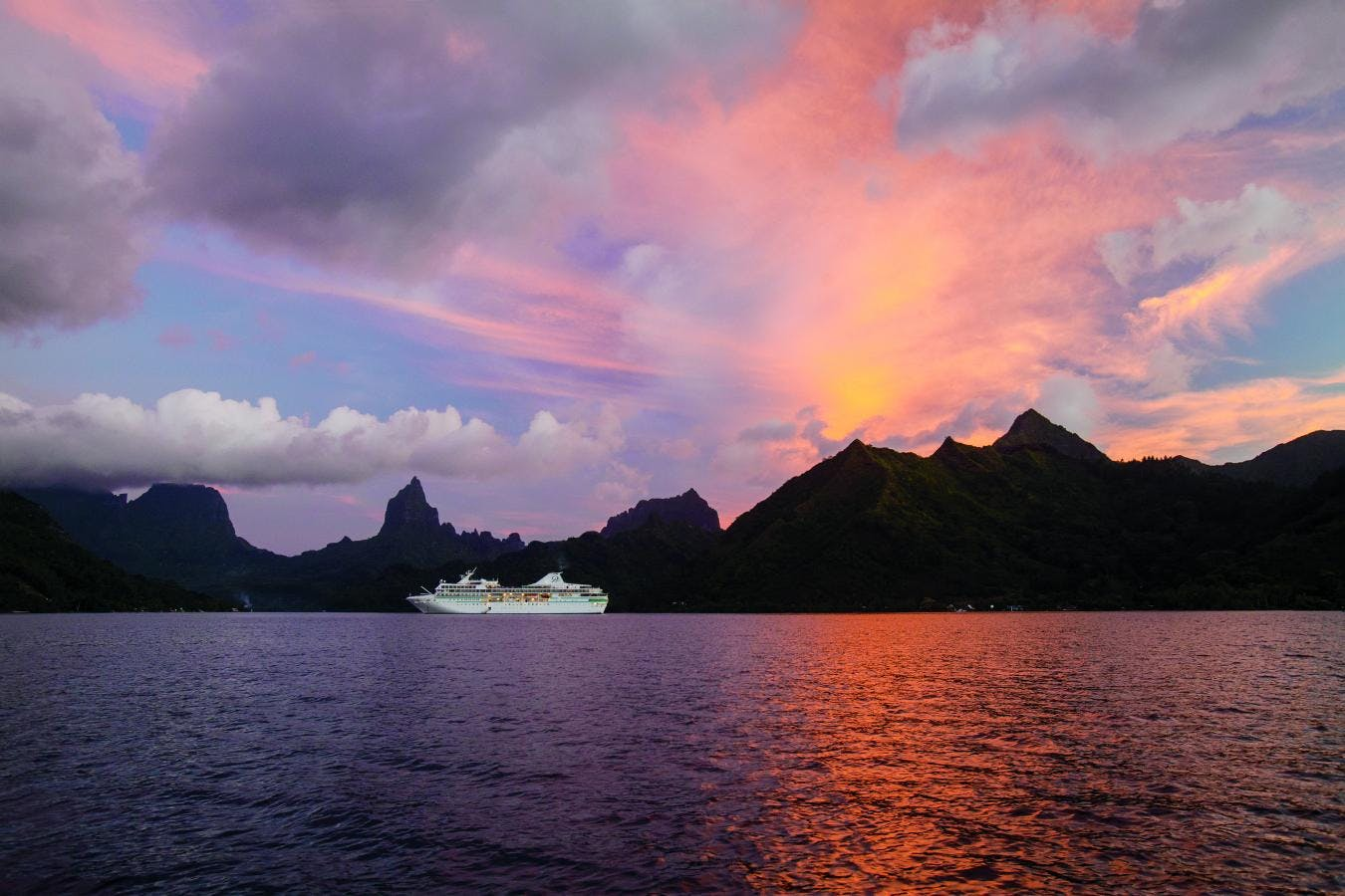 Paul Gauguin ship in Tahiti