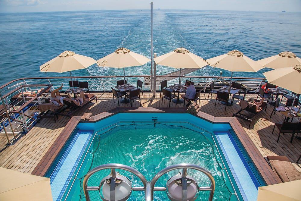 Silver Discoverer back deck pool