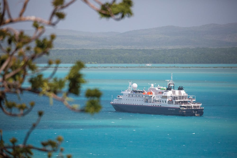 Silver Discoverer sails the Galapagos