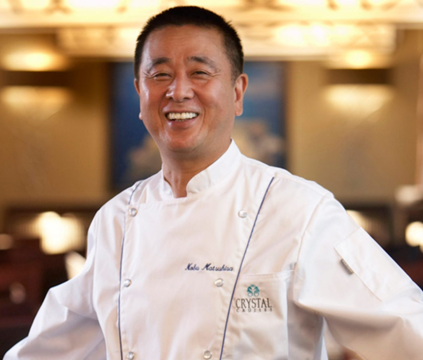 Chef Nobu on Crystal Cruises