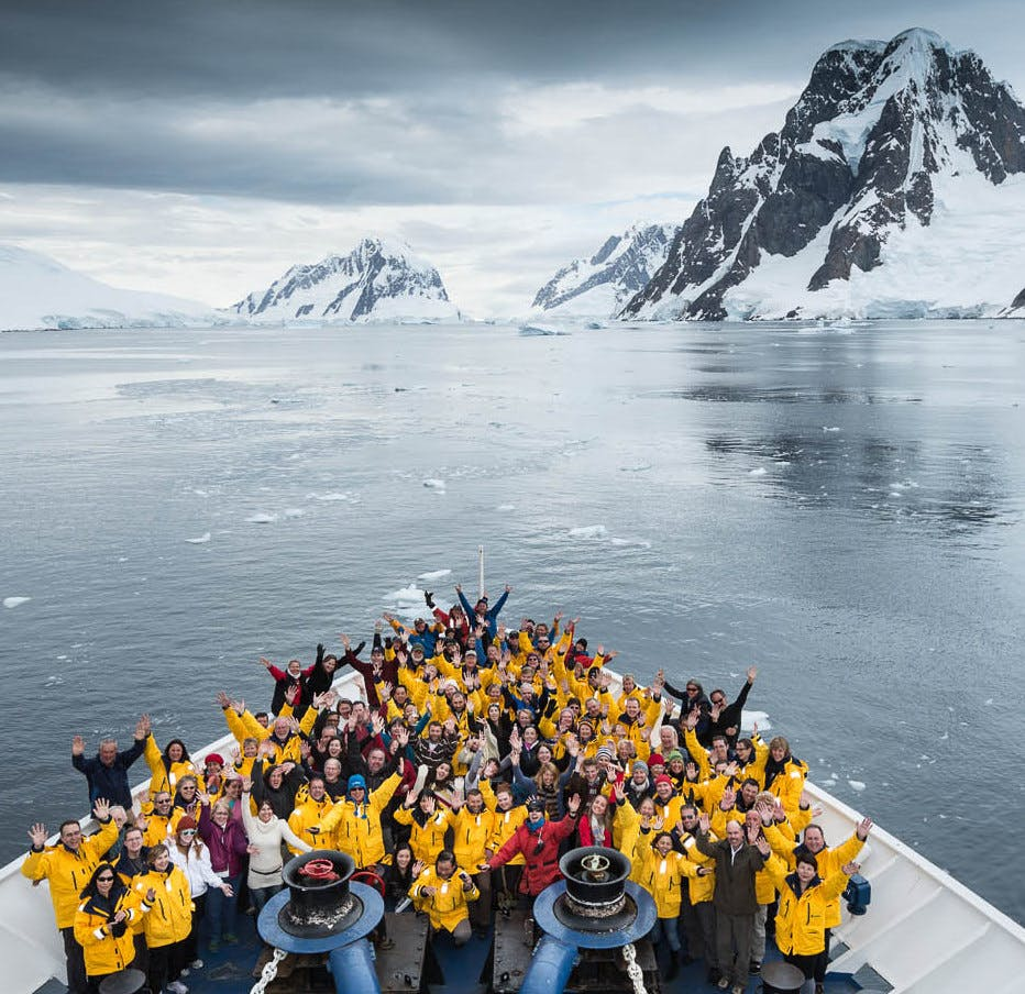 Quark passengers enjoying Drake Passage