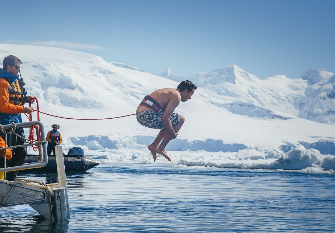 Polar plunge on a Quark Expedition