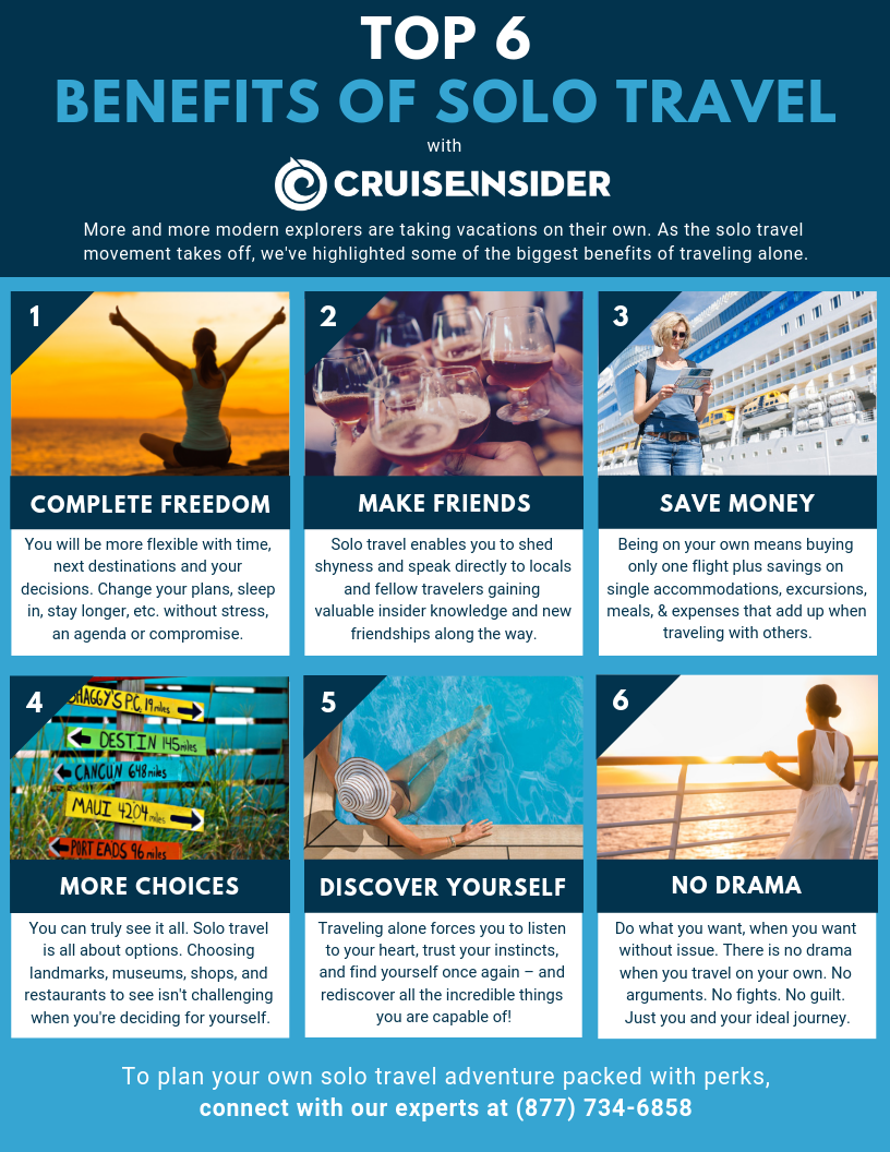 BENEFITS OF SOLO TRAVEL flyer