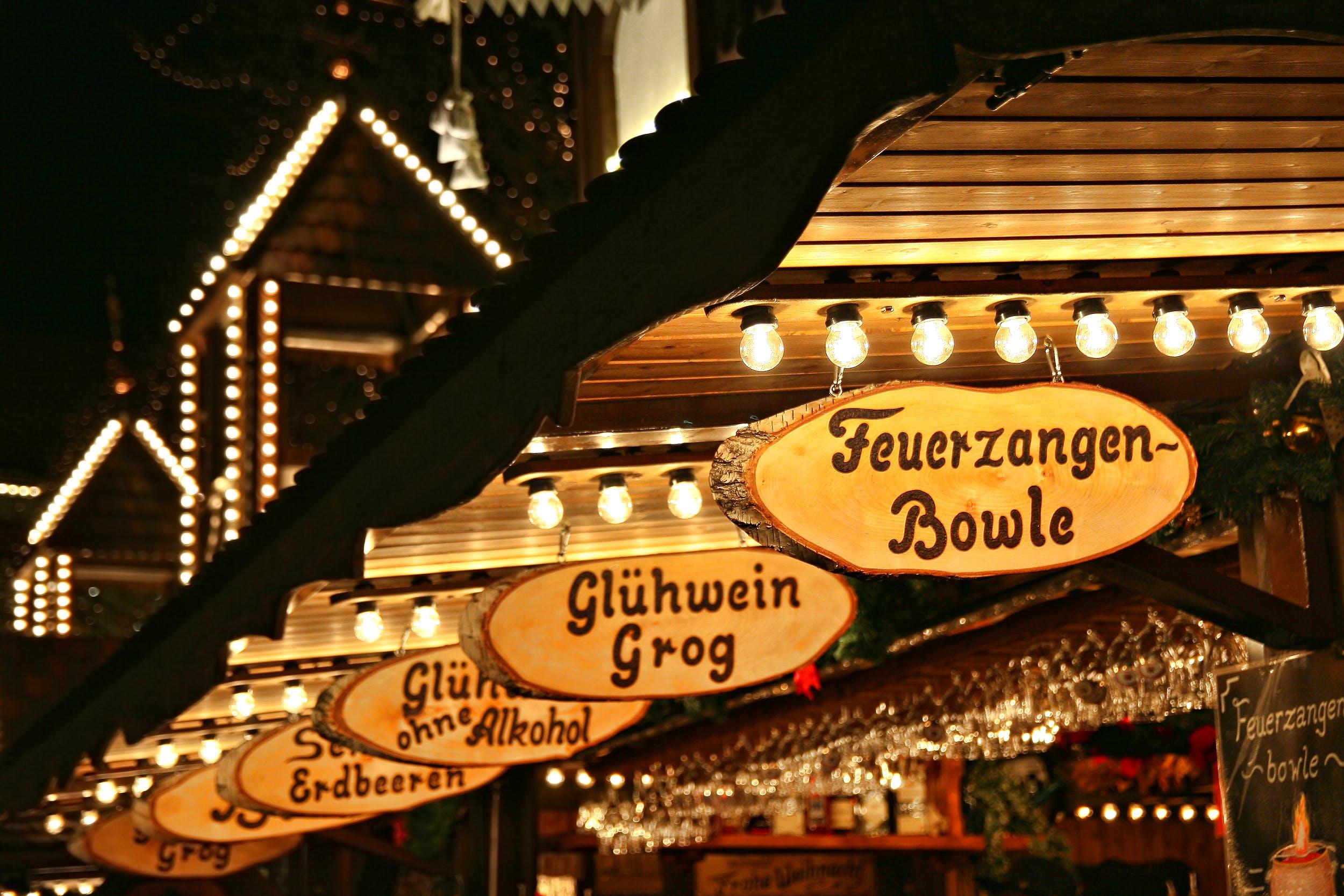 Romantischer Weihnachtsmarkt in Germany.