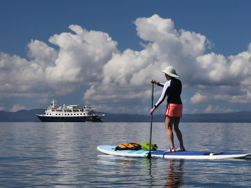 UnCruise Adventures stand up paddle-boarding