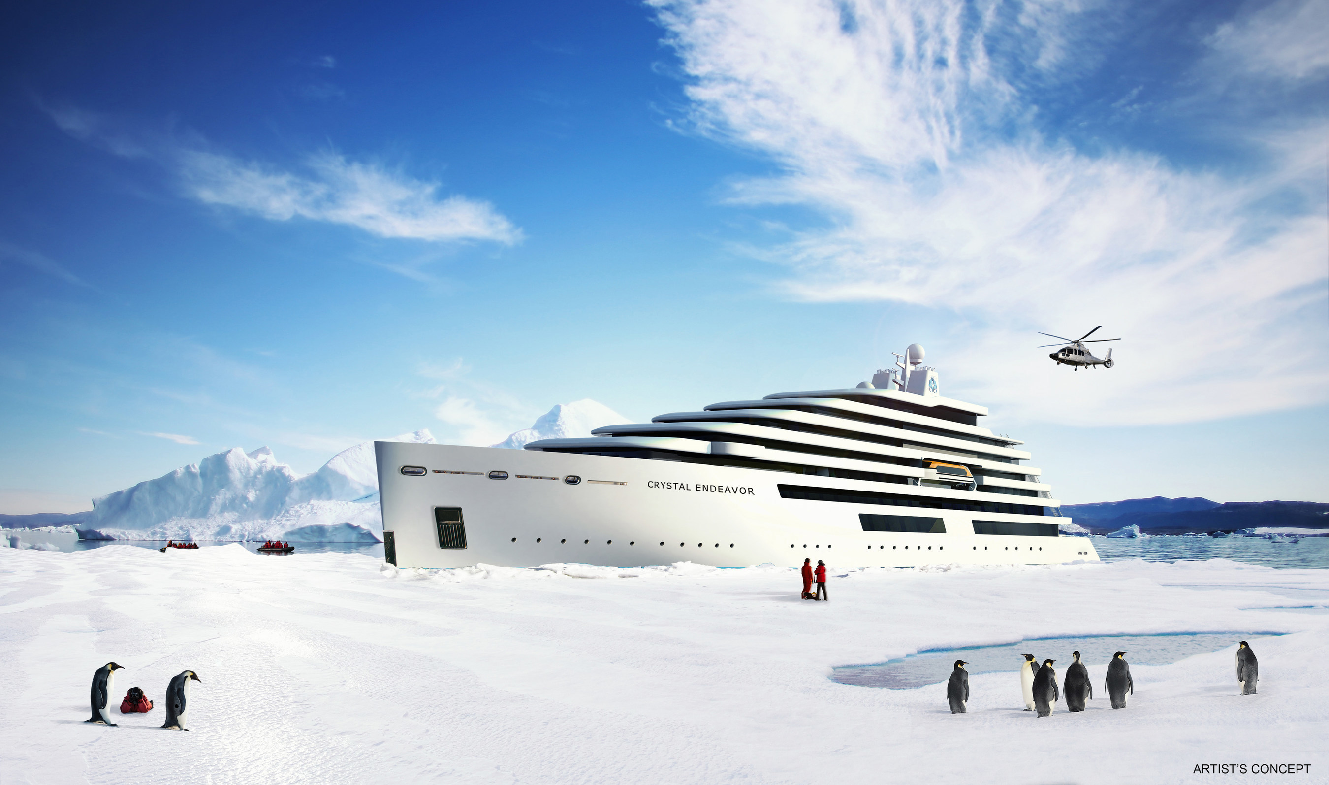 Artist's rendering of the Crystal Endeavor.