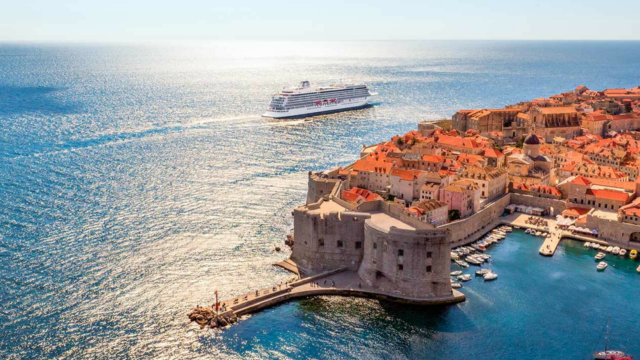 Viking Ocean in Dubrovnik, Croatia