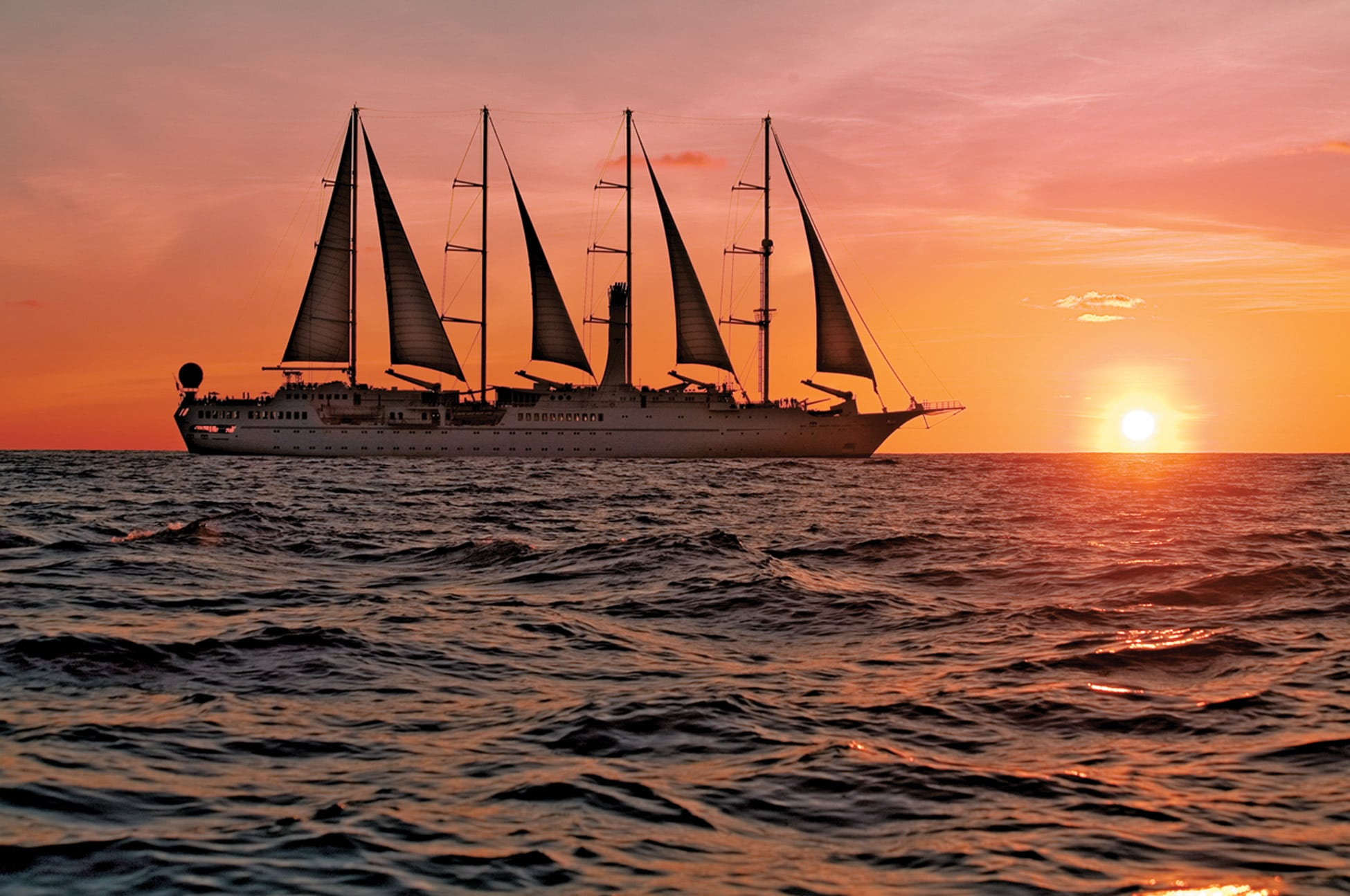 Windstar's yachts are stylish and second-to-none