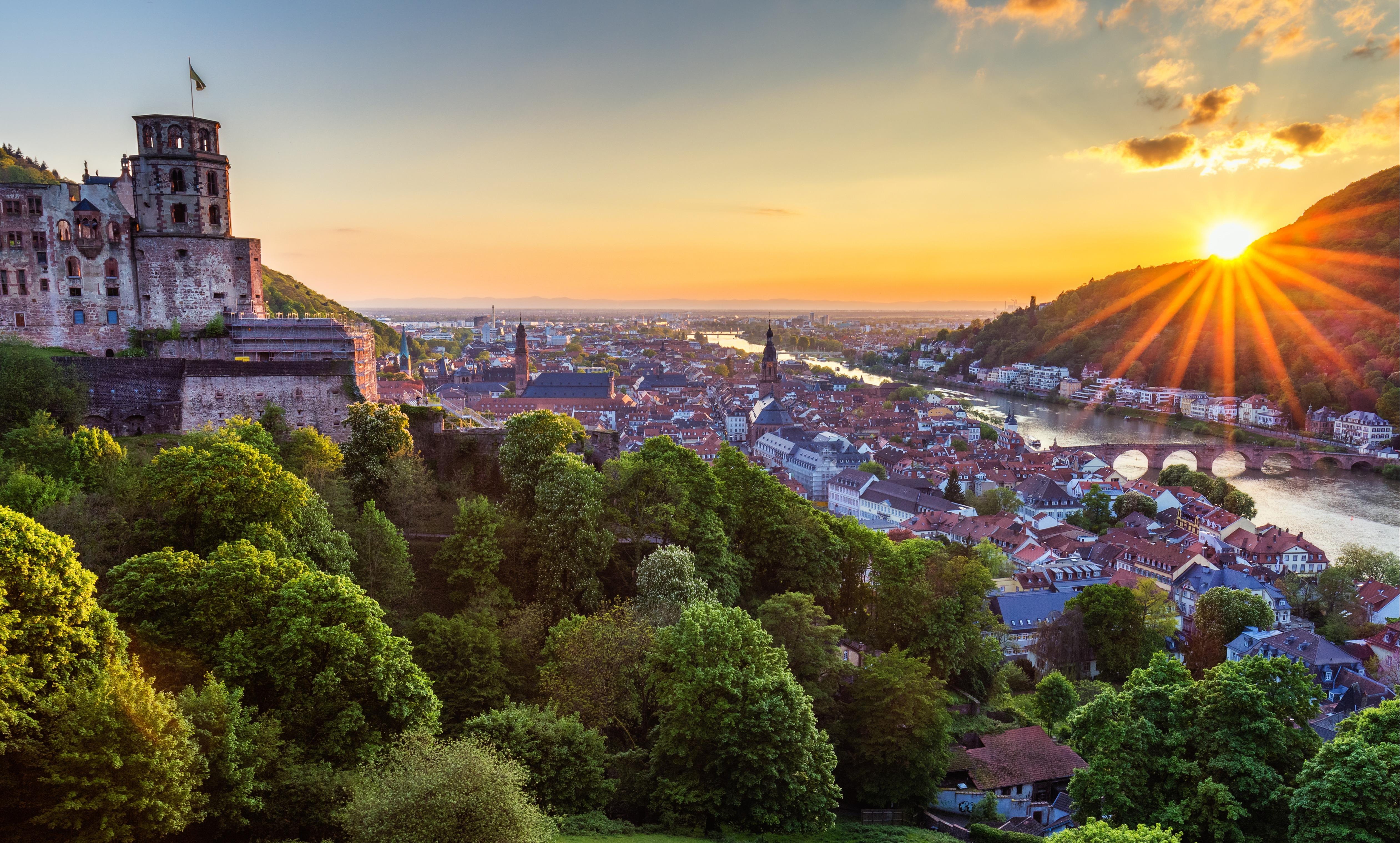 Rhine River in Heidelberg, Germany