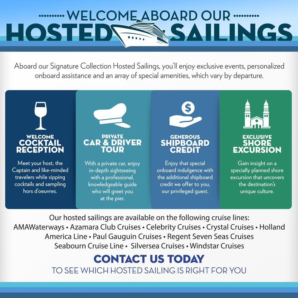 Hosted Sailings Collection Infographic