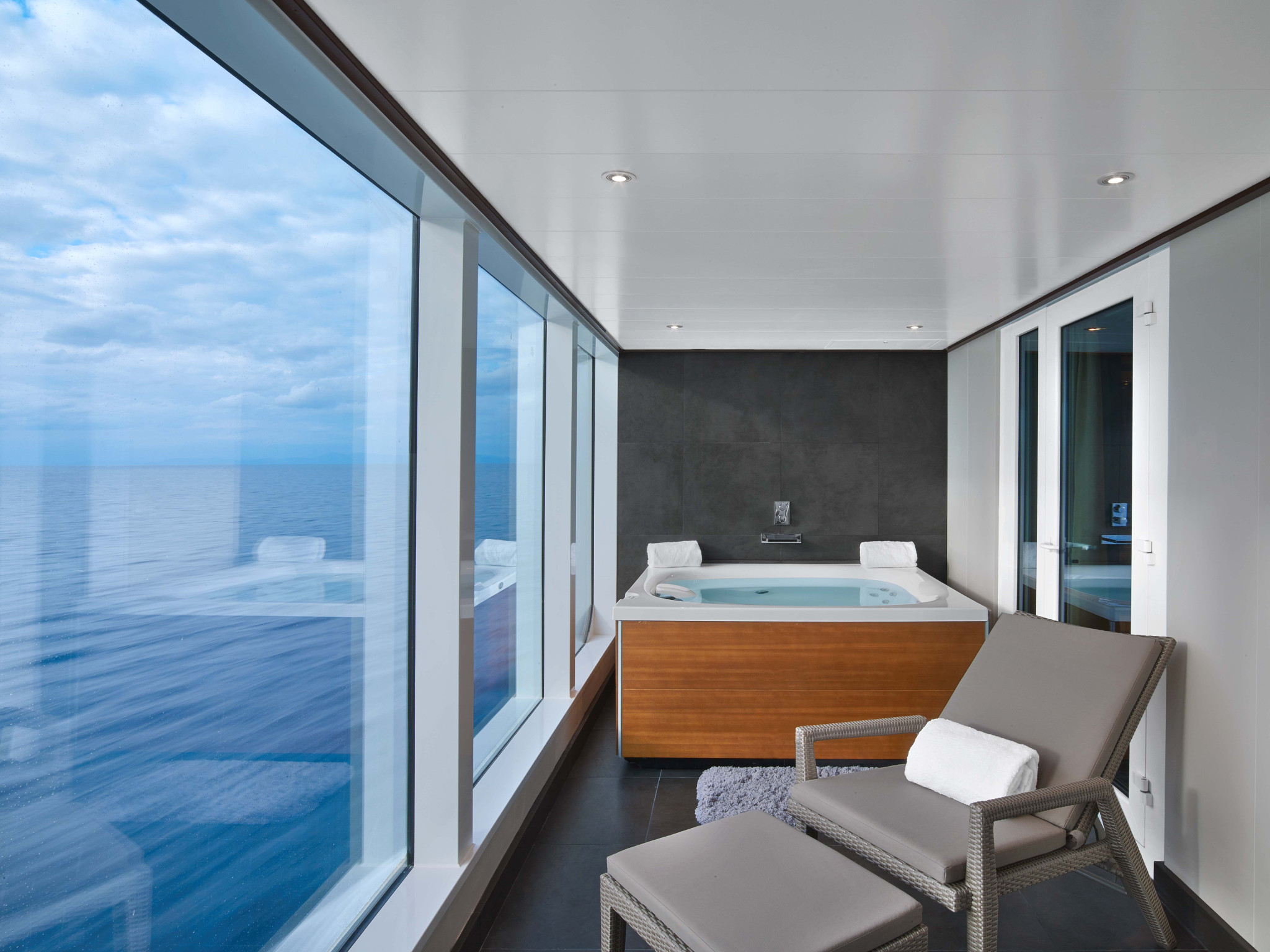 Wintergarden Suite onboard the Seabourn Encore