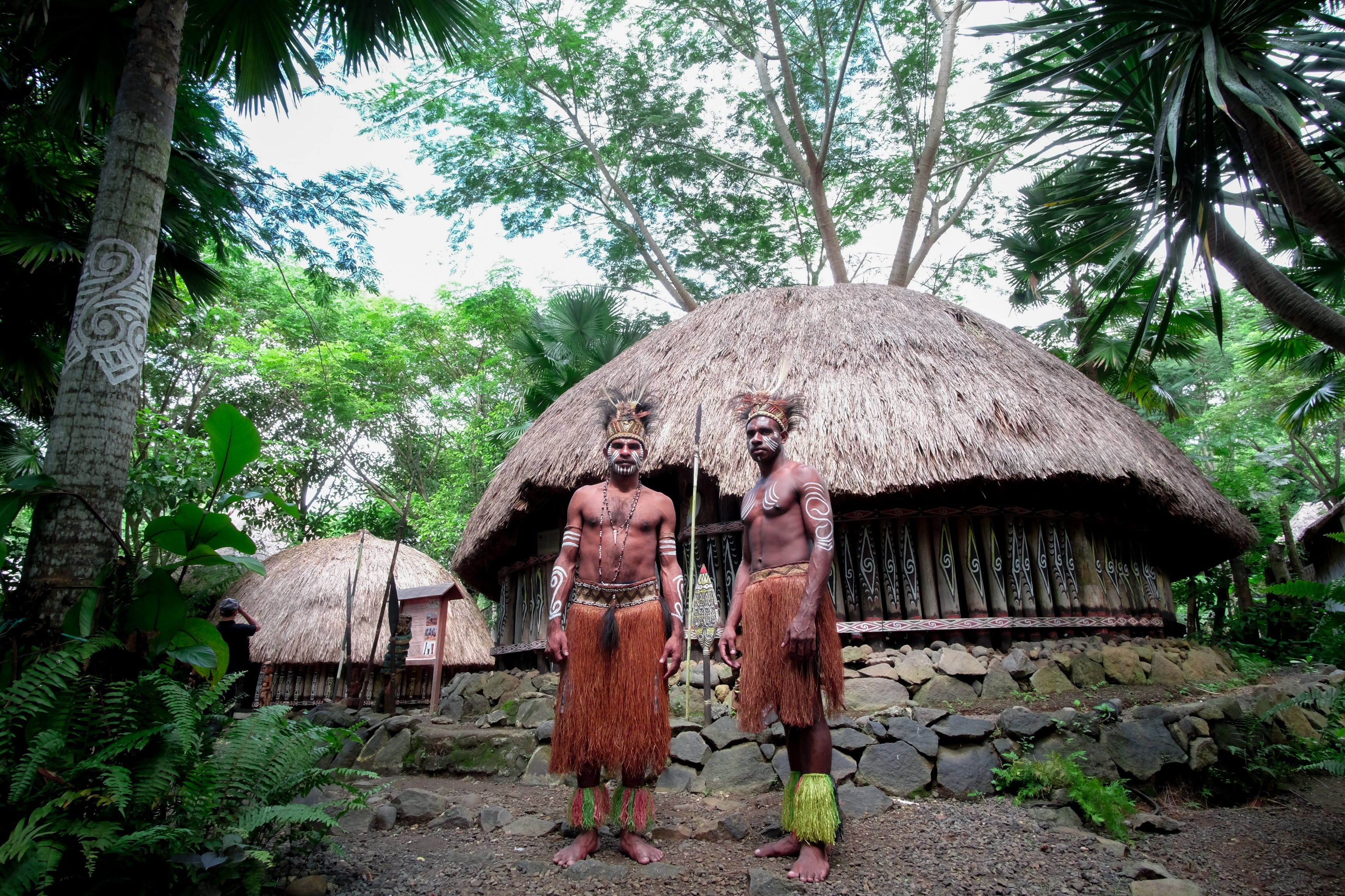 Tribesmen of the Amazon jungle.
