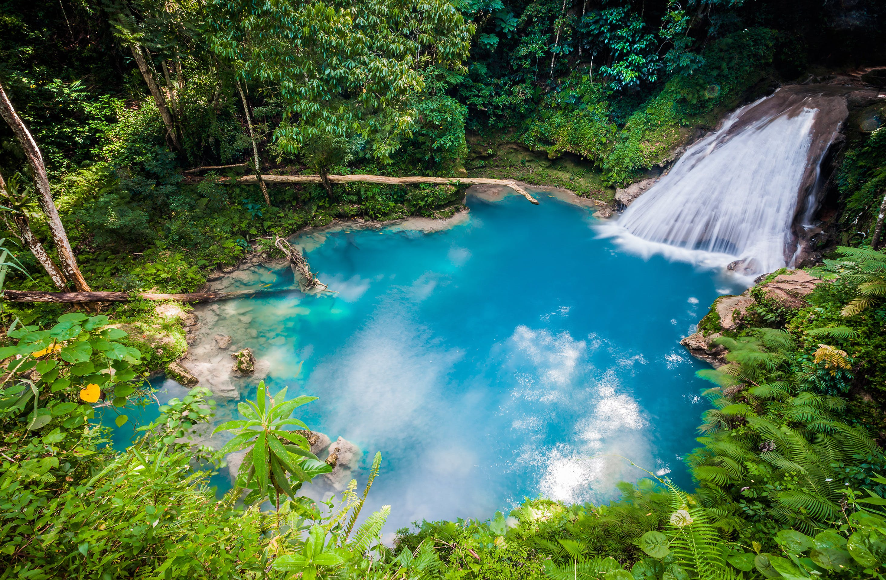 The Blue Hole Waterfall in Ocho Ríos is stunning and still considered a hidden gem to most travelers.