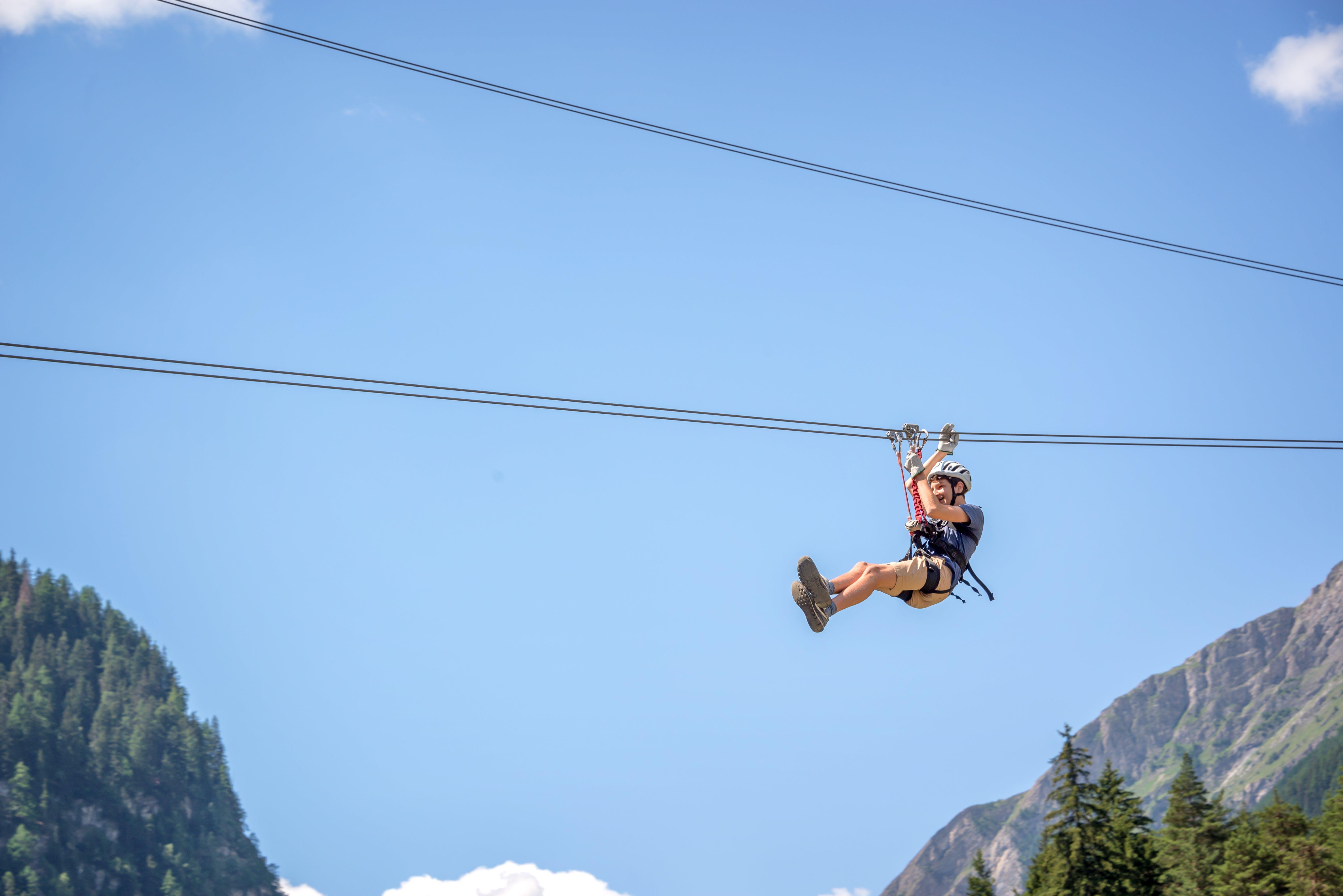 Zip lining in Alaska