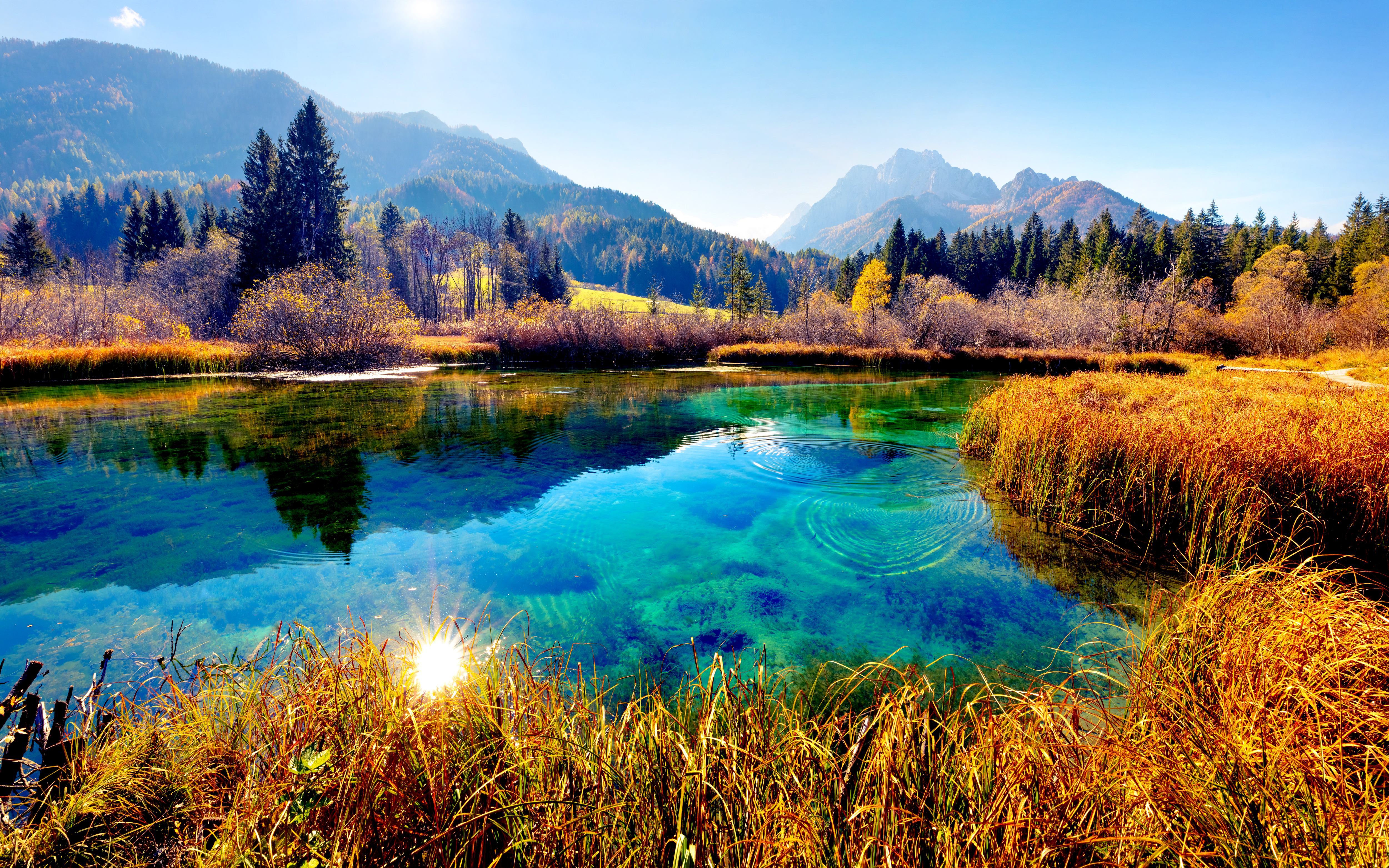 Slovenia lakes and mountains