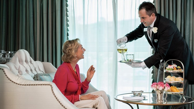 Uniworld's butler service exemplifies their 6-star service philosophy.